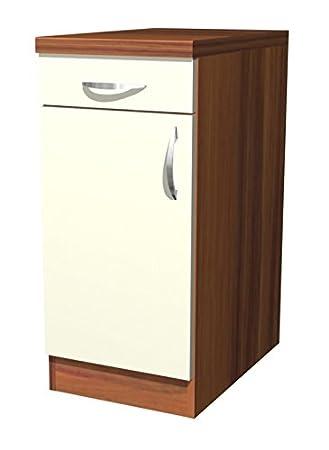 Küchen Unterschrank 40 cm Creme Matt - Sienna: Amazon.de: Küche ... | {Küchen unterschrank 30}