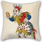 Elegancebeauty Oil Painting Marks, J.L. - Theatrical Portrait - Senr Paulo As Clown Throw Pillow Case 20 X 20 Inches / 50 By 50 Cm Gift Or Decor For Dining Room,car Seat,home,wife,bedroom,indoor -