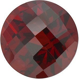 Round Shape Checkerboard Red Garnet Gemstone Grade AAA, 8.00 mm in Size, 2.5 (Carats Round Checkerboard Shape)