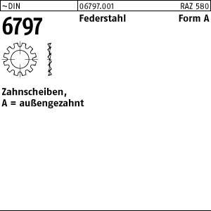 100 Zahnscheiben DIN 6797 Federstahl Form A 15 /Ø M14