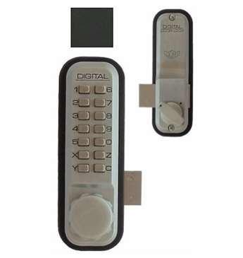 Digital Door Lock 2200 Surface/Rim Mount, Jet Black by Lockey USA by Lockey USA