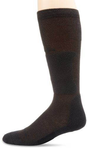 Thorlos Women's  XSKI Ski Ultra Thin Over the Calf Sock, Charcoal/Black, Xsmall