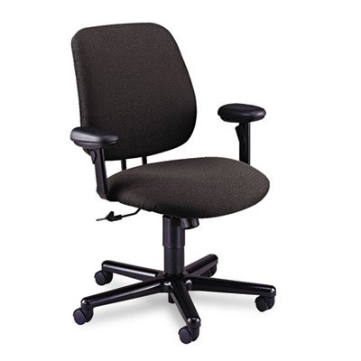 (HON 7754AB12T 24-Hour Task Series Swivel and Tilt Chair with Adjustable Arms, Gray Olefin)
