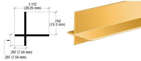 CRL Brite Gold Anodized Aluminum Cross Corner Extrusion - - Corner Anodized Cross Aluminum
