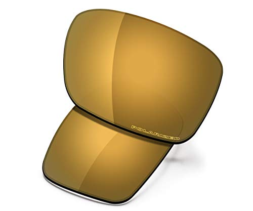 Saucer Premium Replacement Lenses for Oakley Holbrook Sunglasses High Defense - Bronze Gold Polarized