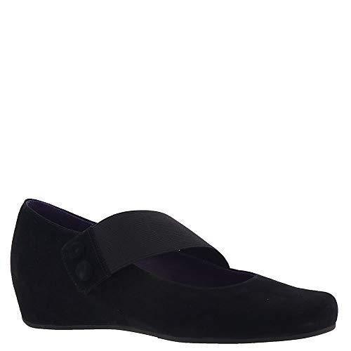 (VANELi Women's Mabel Black Suede/Matching Elastic Shoe)