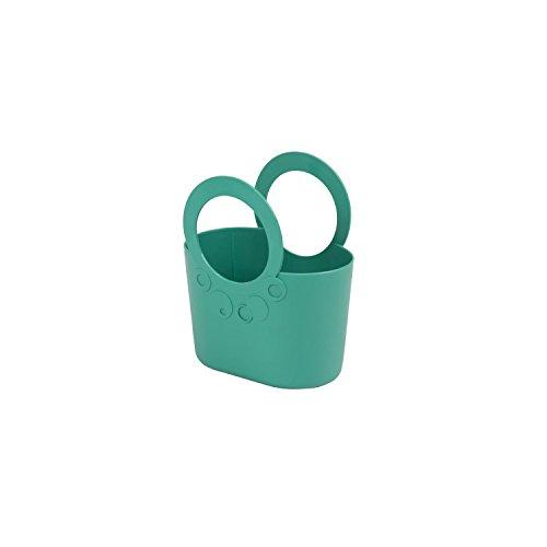 Borsa spiaggia cestino flessibile multiuso Lily 16 x 9,5 x 19,5 cm colore: turchese