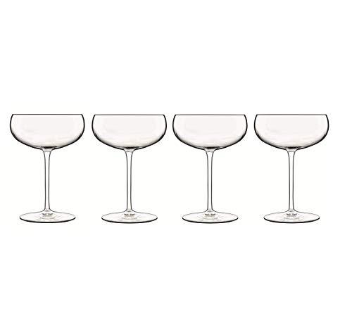 Luigi Bormioli Talismano 10.25, Set of 4 Coupe Champagne/Sherbet Stem, 300ml, Clear