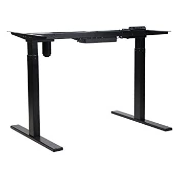 NKV Office Height Adjustable Electric Standing Desk Frame Only, Ergonomic  Solid Steel Single Motor Stand