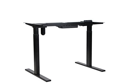 NKV Office Height Adjustable Electric Standing Desk Frame Only, Ergonomic Solid Steel Single Motor Stand Up Desk with Automatic Memory Smart Keypad CZ-UPD01A6 by NKV