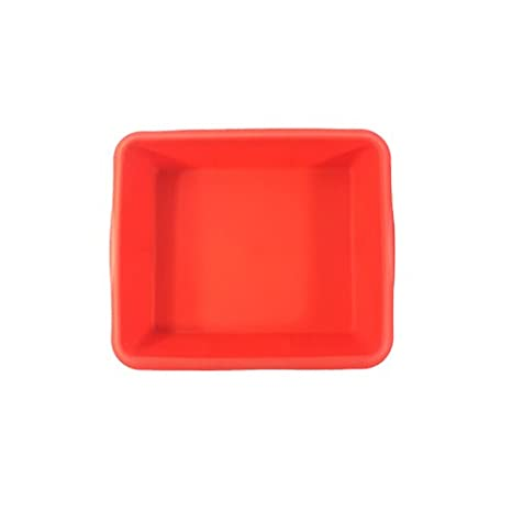 1 silicona cuadrado para horno para tartas - Color Rojo o rojo vino + libre Tupperware Bell vaso 2pcs: Amazon.es: Hogar