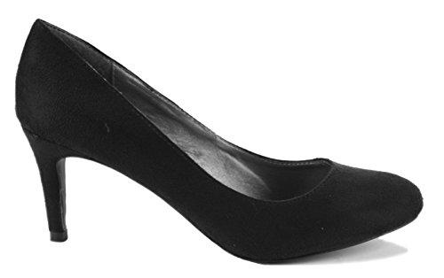 Media Zapatos Gamuza Gatito de Oficina Alta Tacones para negra Shoegeeks 2 nupcial Estilo Elegante informal Tamaño mujeres 8 de Trabajo honor 3 Corte dama Baja Estiletes Damas Bombas fvwqwxZ8F