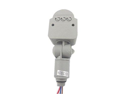 GLW – Foco 12 V Detector de Sensor de movimiento PIR Interruptor inductivo de 10 –