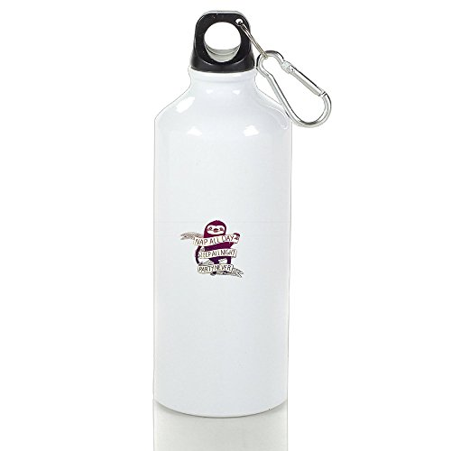 SIHA Dos LOVA Funny Sloth Aluminum Sport Water Bottle, Great For Outdoor And Sport Activities. Metal Hook On The Top 600ml