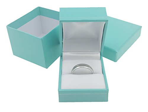888 Display Ultra Elegant Teal Blue Jewelry Box - Rings / Necklace / Bracelet / Earring (1, 1 3/4