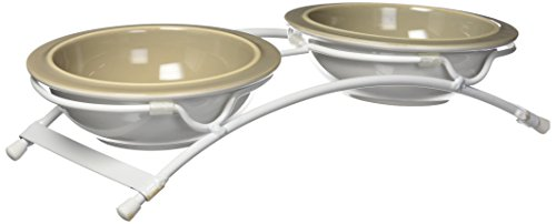 (Petrageous Designs Toftee's Paws Feeder, Taupe)