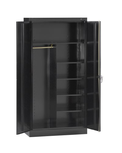 Steel Standard Locker (Tennsco 7220 24 Gauge Steel Standard Welded Combination Storage Cabinet, 5 Shelves, 200 lbs Capacity per Shelf, 36