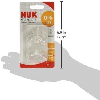 Coppia di tettarelle anti colica in silicone per Tee misura: 2 S 6-18 mesi forma NUK