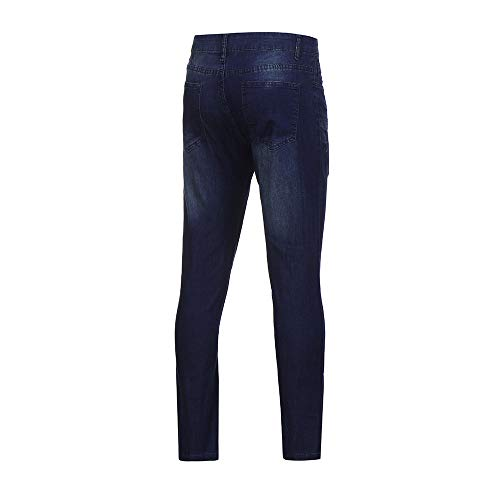 Jeans Slim Denim Uomo Strada Strappati Casual Lavato Elastico In Blu Topgrowth Pantaloni Denudati Fit Skinny FqUdcF1way