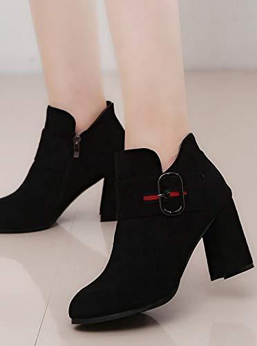 YSFU Stiefel Frauen Stiefelies Dicke Fersen Schuhe Damen Absatz Stiefelie Casual Herbst Winter Outdoor Stöckel Absatz Damen fda1ac