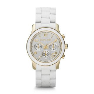 Michael Kors MK5145 Women's Two Tone Stainless Steel Quartz Chronograph White Dial Watch by Michael Kors