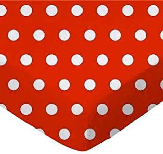 product image for SheetWorld Fitted Crib / Toddler Sheet - Polka Dots Red - Made In USA