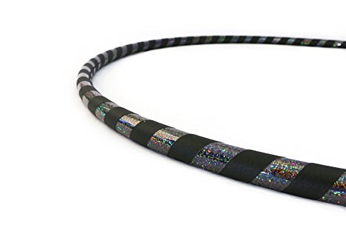 Weighted Fitness Hula Hoop. Great for Exercise, Dancing, Staying in Shape and Having Fun! (Black, Fitness Hoop 40