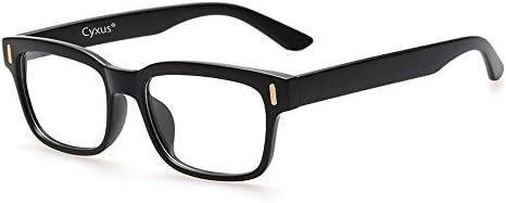 Cyxus Blue Light Blocking Computer Glasses for Anti Eye Strain UV Transparent Lens Black Frame Reading Glass Unisex (Men/Women) (8084T01, Classic Black)