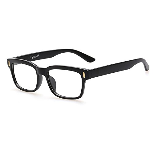 cyxus-blue-light-filter-better-sleep-block-uv-transparent-lens-black-frame-vintage-glasses-anti-eye-