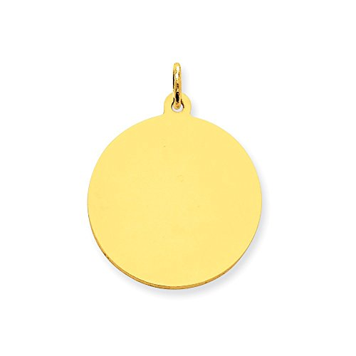 Diamond2Deal 10k Yellow Gold Plain .013 Gauge Circular Engravable Disc Charm from Diamond2Deal