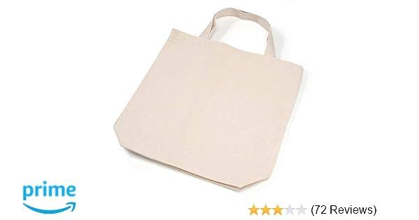 32a8aabdf8 Amazon.com  Darice Natural Tote Bag  13.5 x 14 inches  Clothing