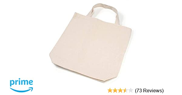 c65176703a7 Darice Natural Tote Bag: 13.5 x 14 inches