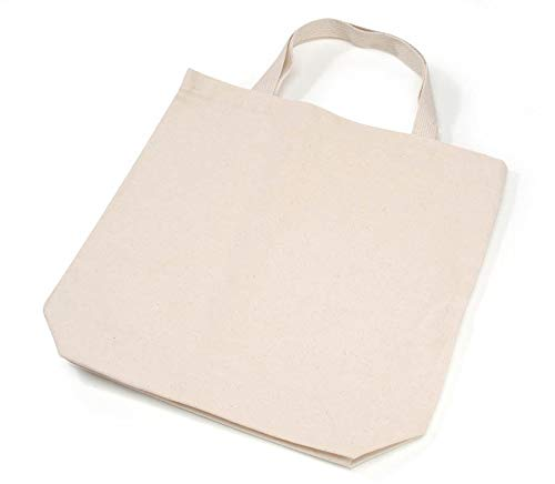 a7ac13ebe9a Image Unavailable. Image not available for. Color  Darice Natural Tote Bag   13.5 ...