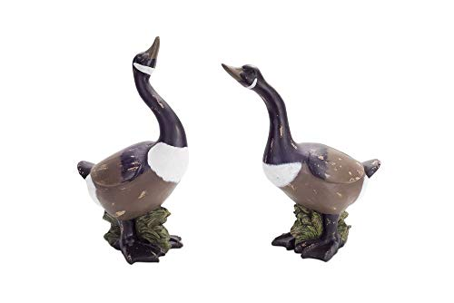 Melrose Pack of 2 Distressed Artificial Canadian Geese Decorative Figurines 23