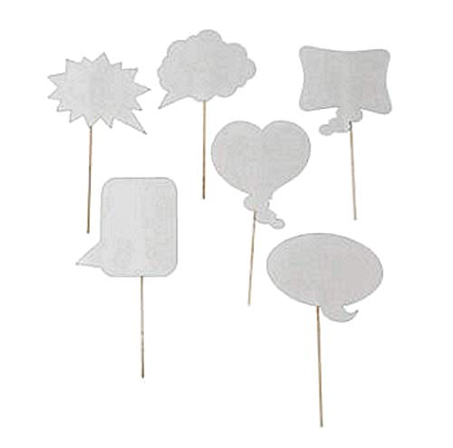 Wedding Photo Booth Props, Dry Erase Bubble Speech Photo Booth Props Attached to the stick, Wedding decorations, Birthday party photo props, 4E's Novelty
