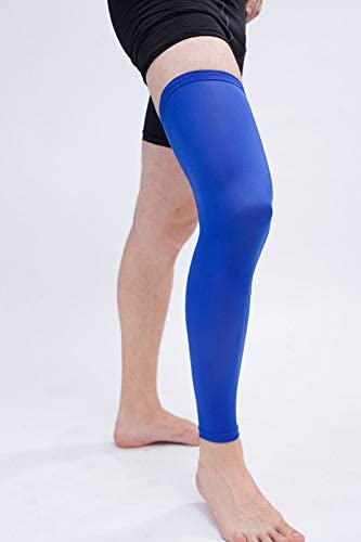 Amazon Com Fleeting Time Basketball Leggings Pantyhose Kneepads Long Running Sunscreen Football Compression Protection Legs Protector Breathable L Single Blue No Cellular Leggings Sports Outdoors
