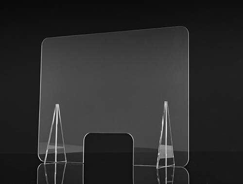Mampara de Protección 90x65cm en Metacrilato transparente, ligero y facil de instalar. Pantalla protector para tienda, hospital, comercio, supermercado, restaurante, estanco: Amazon.es: Salud y cuidado personal