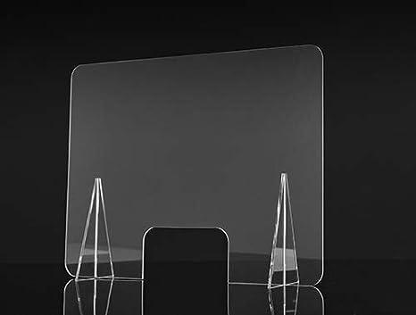 Mampara de Protección 90x65cm en Metacrilato transparente, ligero ...