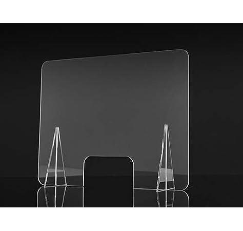Mampara de Protección 80x60 cm en Metacrilato transparente, ligero y fácil de instalar. Pantalla protector para tienda, hospital, comercio, supermercado, restaurante, estanco: Amazon.es: Salud y cuidado personal