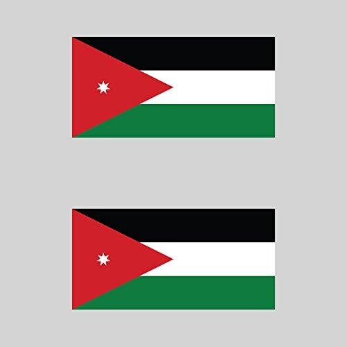 Two Pack Jordanian Flag Sticker FA Graphix Decal Self Adhesive Vinyl Jordan JOR JO fagraphix 1959CFBFA-2-FA7947