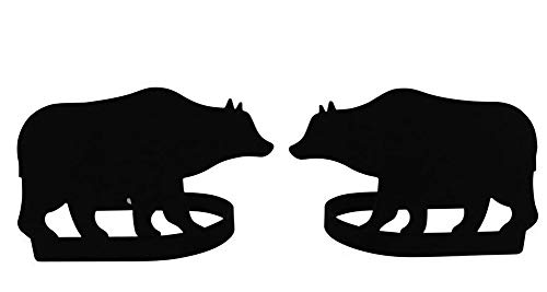 Iron Bear Curtain Hold Tie Backs -Set of 2-Black Metal Bear Curtain Tie Backs
