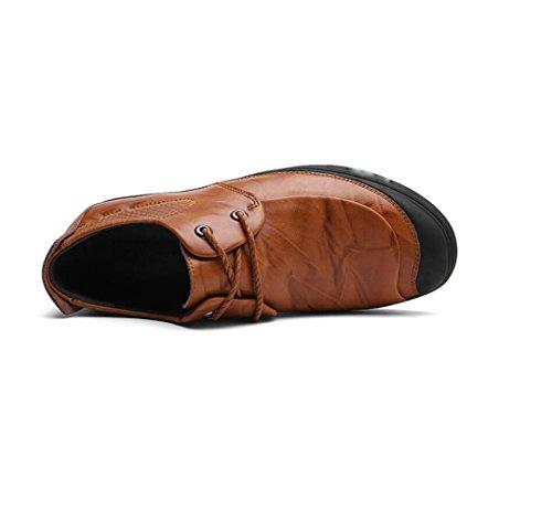 Morbido Bean Brown Fondo Pigro Tonda Uomo da A Oxford Casual Punta da Scarpe Business Traspiranti Rete Scarpe Scarpe nRwqxaSUf4
