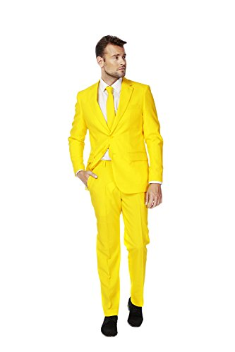 Mens 'Yellow Fellow' Party Suit and Tie by OppoSuits, 40
