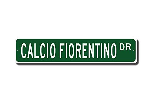 Football Fiorentina - rfy9u7 Calcio Fiorentino, Calcio Fiorentino Gift, Calcio Fiorentino Sign, 16th Century Italian Football, Custom Street Sign, Quality Metal Sign
