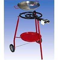 Gas-Brenner 1-flammig Grill-Set klein schwarz Burner Balkon Camping Picknick ✔ rund ✔ stehend grillen ✔ Grillen mit Gas