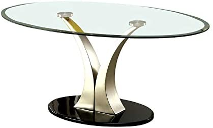 Furniture of America Mansa Stainless Steel Coffee Table