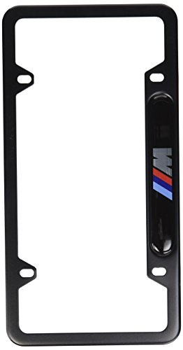 (BMW FBA_82-12-0-010-404 Black Stainless Steel License Frame with M Logo)