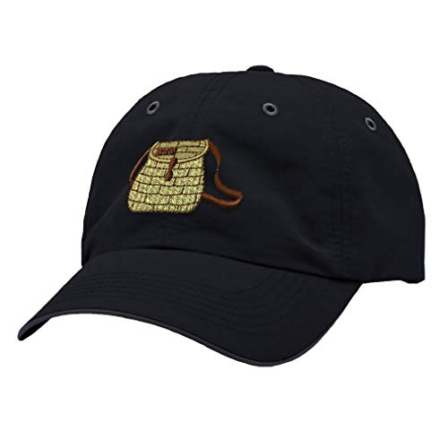 Speedy Pros Richardson Running Cap Creel Basket Embroidery Design Polyester Hat Hook & Loop Navy/Charcoal Design - Hook Creel