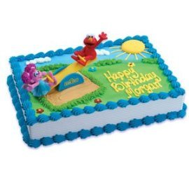 Bakery Crafts - Sesame Street Elmo and Abby Playground Cake Decorating Kit ()