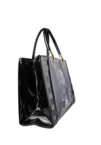 Charol para Bolso mujer Fashion Negro amp; Home al de hombro n8qwY8EP0